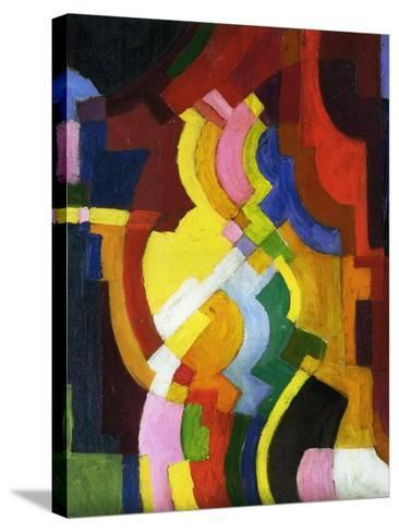 Coloured Forms III, 1913-Auguste Macke-Stretched Canvas Print