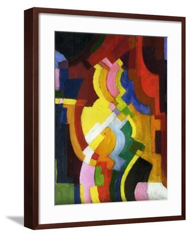 Coloured Forms III, 1913-Auguste Macke-Framed Art Print
