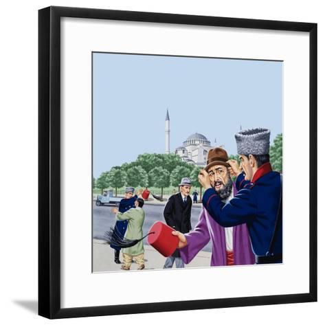 Replacing the Traditional Fez in Turkey-John Keay-Framed Art Print