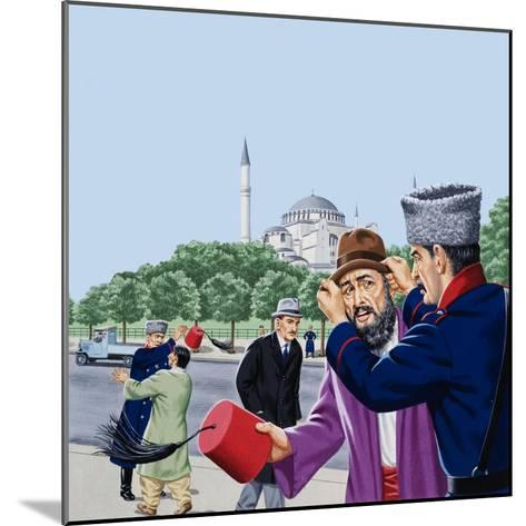 Replacing the Traditional Fez in Turkey-John Keay-Mounted Giclee Print