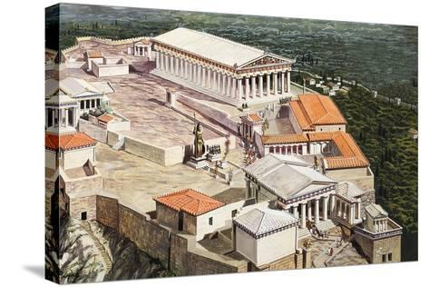 The Acropolis and Parthenon-Roger Payne-Stretched Canvas Print