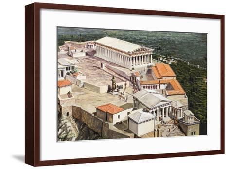 The Acropolis and Parthenon-Roger Payne-Framed Art Print