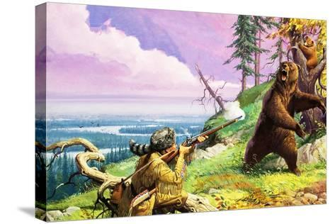 Daniel Boone Blazes the Wilderness Trail-Severino Baraldi-Stretched Canvas Print