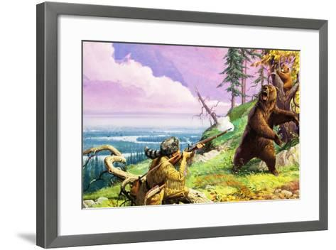 Daniel Boone Blazes the Wilderness Trail-Severino Baraldi-Framed Art Print