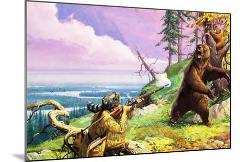 Daniel Boone Blazes the Wilderness Trail-Severino Baraldi-Mounted Giclee Print