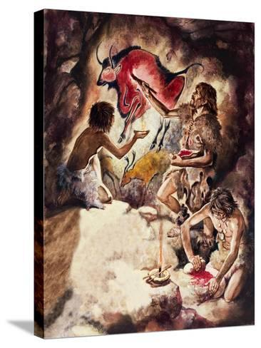 Cave Paintings-Peter Jackson-Stretched Canvas Print