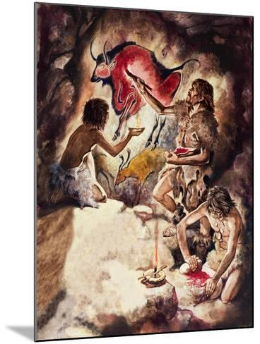 Cave Paintings-Peter Jackson-Mounted Giclee Print