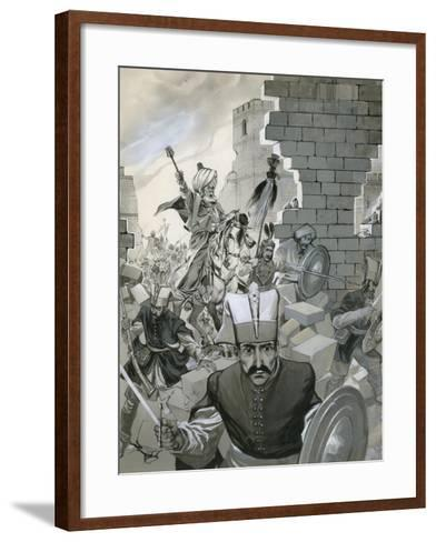 The Fall of Constantinople, 1453-Angus Mcbride-Framed Art Print