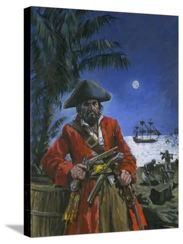 Captain Kidd-Graham Coton-Stretched Canvas Print