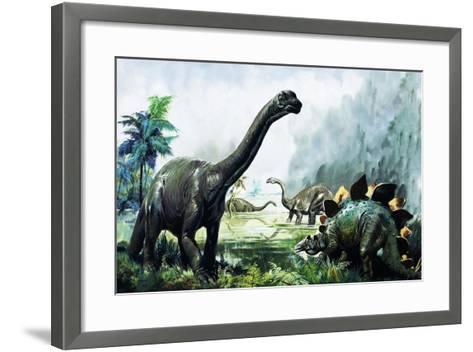 Pre-Historic Animals-David Nockels-Framed Art Print