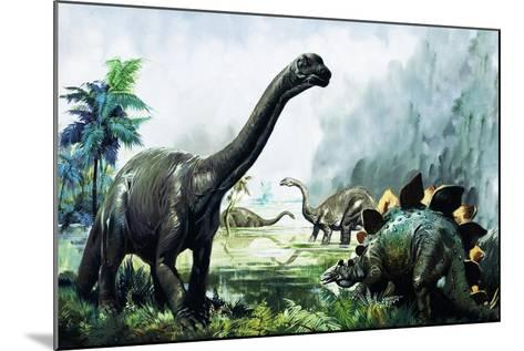 Pre-Historic Animals-David Nockels-Mounted Giclee Print