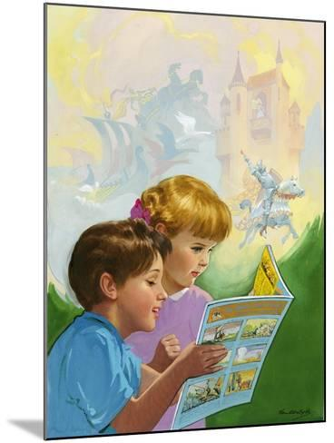 Boy and Girl Reading-Van Der Syde-Mounted Giclee Print
