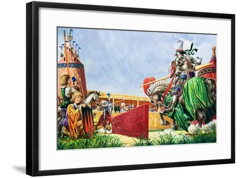 The Tournament-Peter Jackson-Framed Art Print