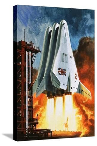 BAC's 'Mustard' Space Transporter-Wilf Hardy-Stretched Canvas Print