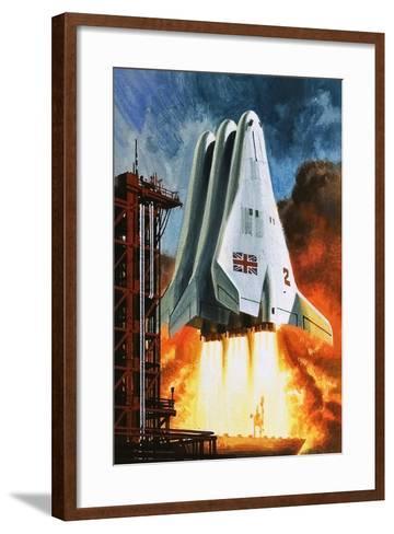 BAC's 'Mustard' Space Transporter-Wilf Hardy-Framed Art Print