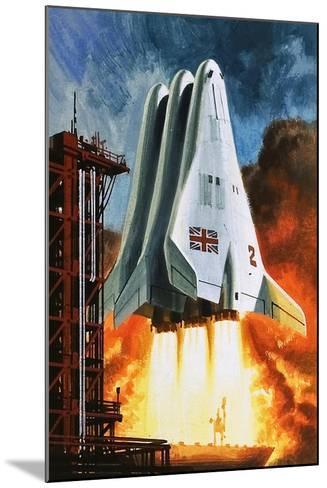 BAC's 'Mustard' Space Transporter-Wilf Hardy-Mounted Giclee Print