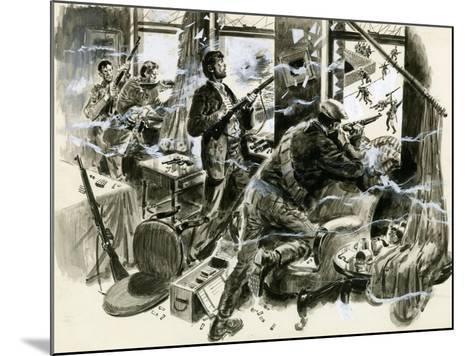 Battle for Mount Street Bridge, Dublin, April 1916-English School-Mounted Giclee Print