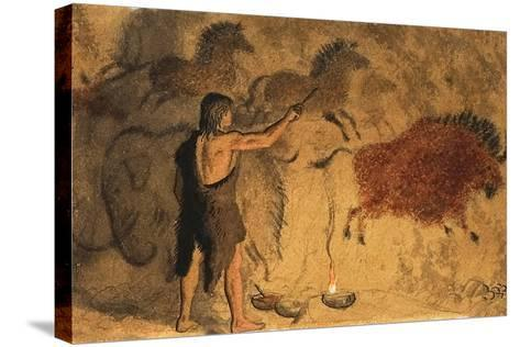 Cave Painters-Ronald Lampitt-Stretched Canvas Print