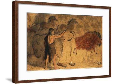 Cave Painters-Ronald Lampitt-Framed Art Print
