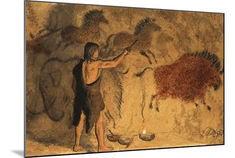 Cave Painters-Ronald Lampitt-Mounted Giclee Print