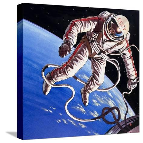 Famous Firsts: Space-Walk!-Wilf Hardy-Stretched Canvas Print