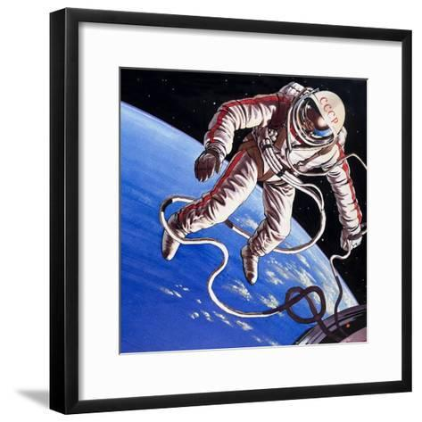 Famous Firsts: Space-Walk!-Wilf Hardy-Framed Art Print