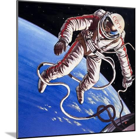 Famous Firsts: Space-Walk!-Wilf Hardy-Mounted Giclee Print