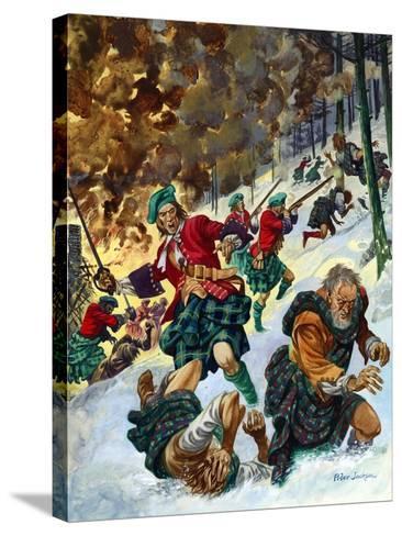 The Massacre of Glencoe-Peter Jackson-Stretched Canvas Print