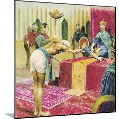 Sinbad the Sailor-Don Lawrence-Mounted Giclee Print