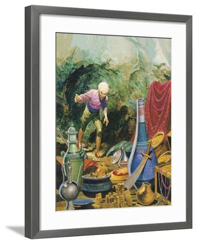 Ali Baba and the Forty Thieves-Don Lawrence-Framed Art Print
