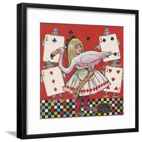 Alice in Wonderland-Jesus Blasco-Framed Art Print