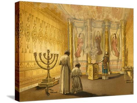 Interior of the Tabernacle-English School-Stretched Canvas Print