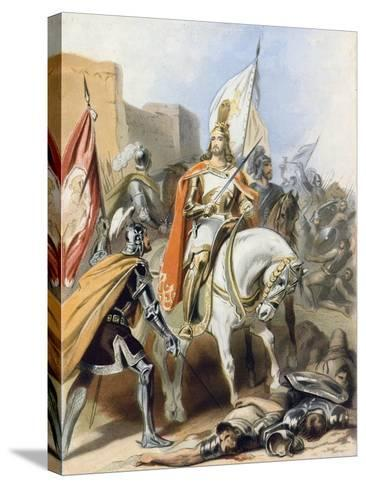 The Meeting of Emmanuel and Captain Credence-Gustav Bartsch-Stretched Canvas Print