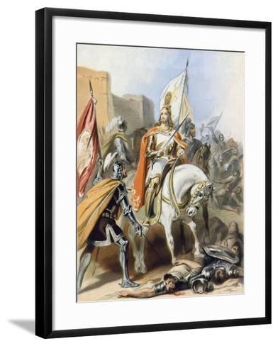 The Meeting of Emmanuel and Captain Credence-Gustav Bartsch-Framed Art Print