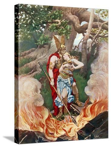 Valkyrie, Act III Scene II-Konrad Dielitz-Stretched Canvas Print