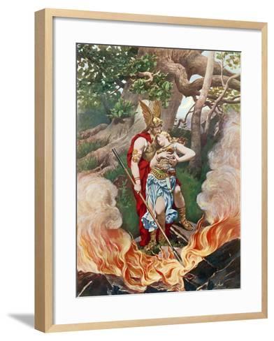 Valkyrie, Act III Scene II-Konrad Dielitz-Framed Art Print