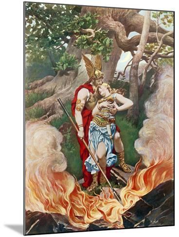 Valkyrie, Act III Scene II-Konrad Dielitz-Mounted Giclee Print