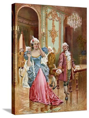 La Traviata, Act II Scene IV-William De Leftwich Dodge-Stretched Canvas Print