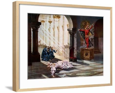 Faust, Act IV Scene V-William De Leftwich Dodge-Framed Art Print