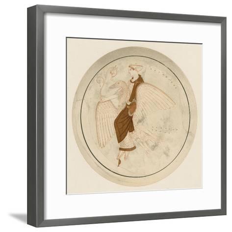 Aphrodite on the Swan-English School-Framed Art Print