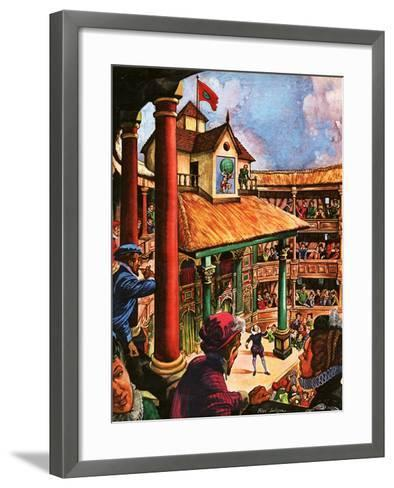 Shakespeare Performing at the Globe Theatre-Peter Jackson-Framed Art Print