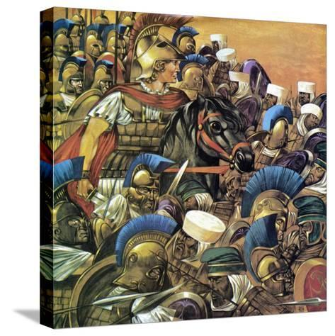 Alexander the Great-Richard Hook-Stretched Canvas Print