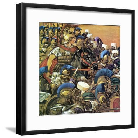 Alexander the Great-Richard Hook-Framed Art Print