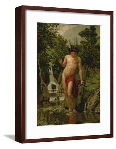 Narcissus in Love with His Own Reflection-Dionisio Baixeras-Verdaguer-Framed Art Print
