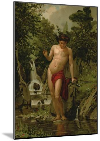 Narcissus in Love with His Own Reflection-Dionisio Baixeras-Verdaguer-Mounted Giclee Print