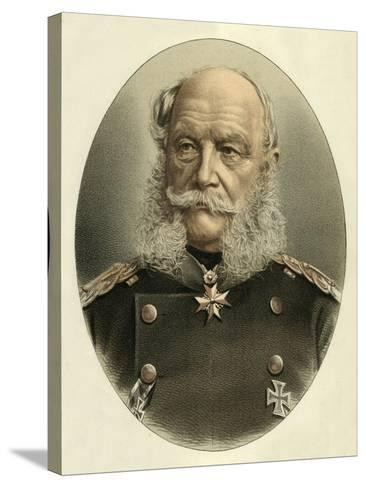 William I, Emperor of Germany-English School-Stretched Canvas Print
