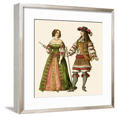King Louis XIV of France and Maria Theresa Queen of France-Albert Kretschmer-Framed Art Print