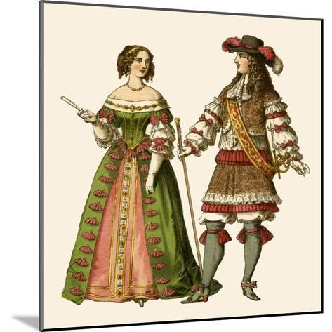 King Louis XIV of France and Maria Theresa Queen of France-Albert Kretschmer-Mounted Giclee Print