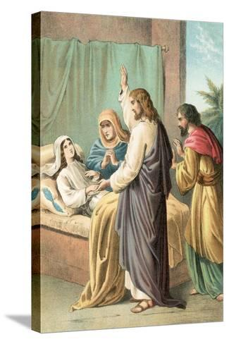 The Raising of Jairus' Daughter-English School-Stretched Canvas Print