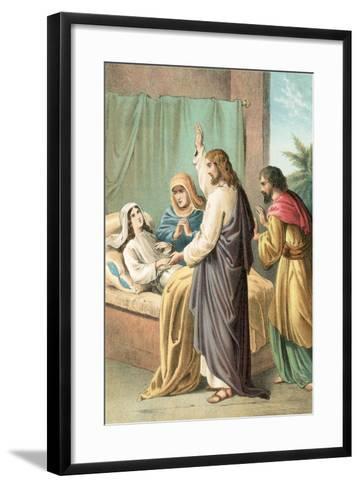 The Raising of Jairus' Daughter-English School-Framed Art Print